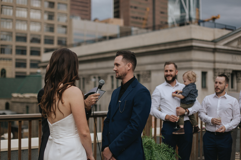 rooftop calgary wedding photography