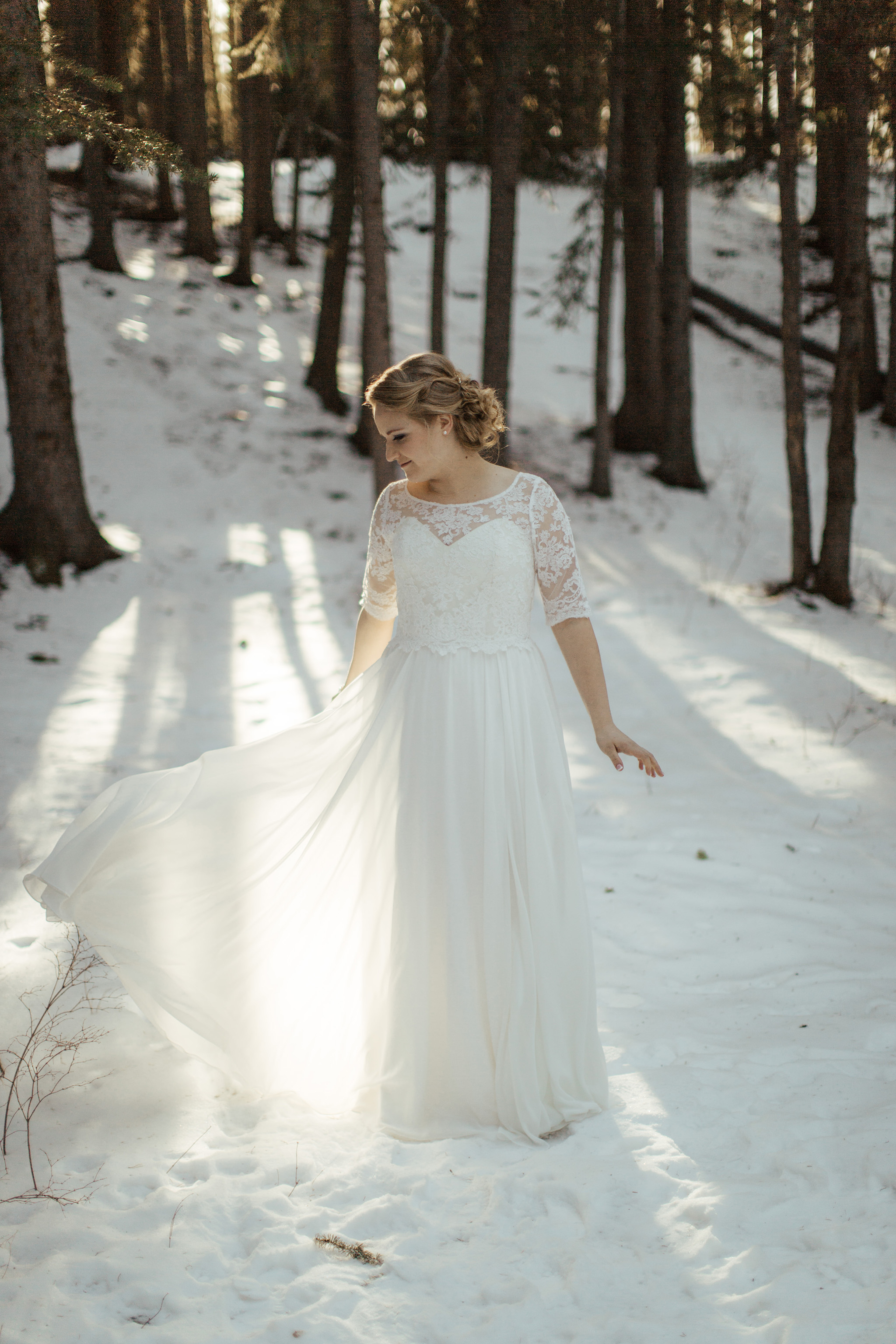 bridal portraits bragg creek