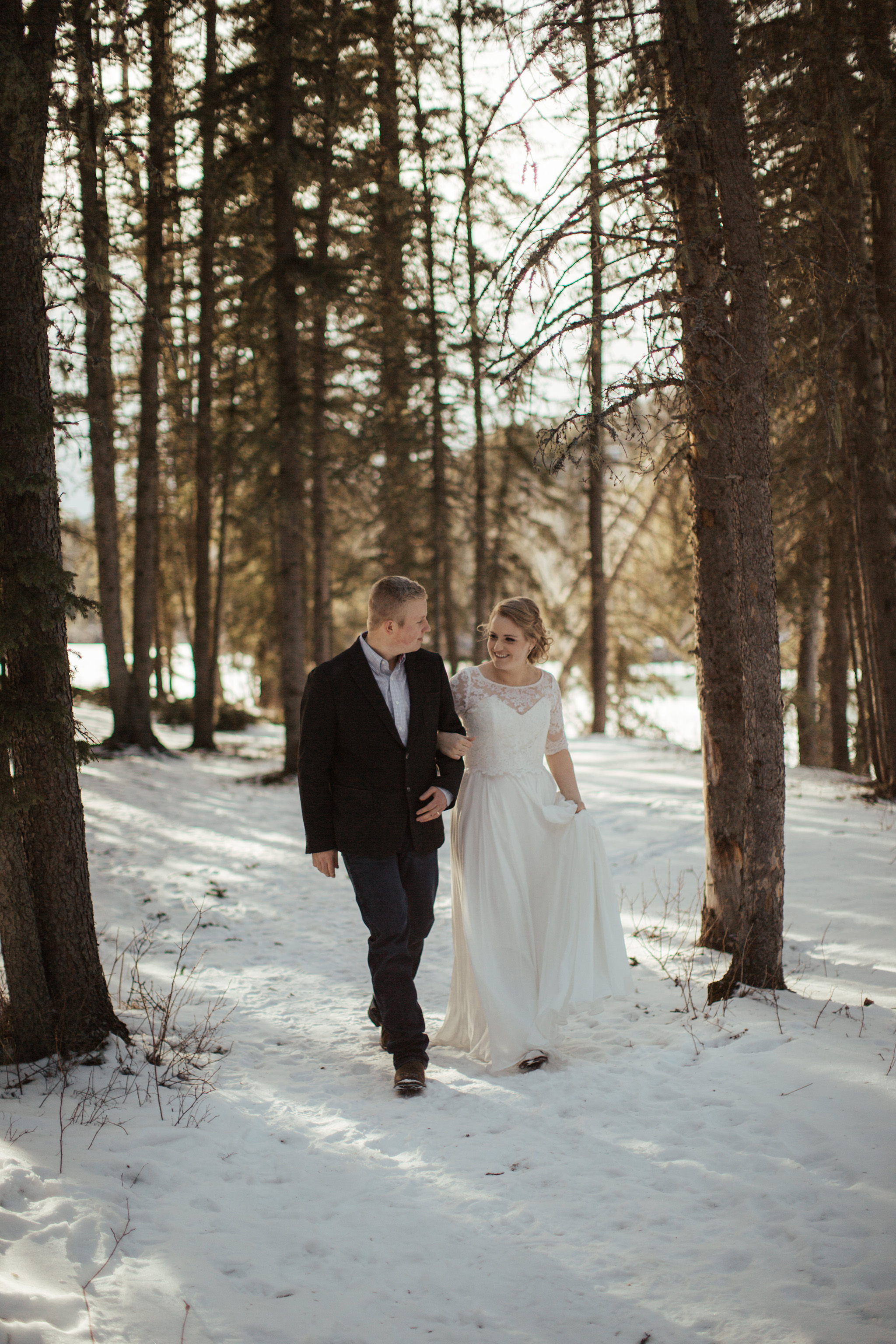 sunset wedding photos bragg creek