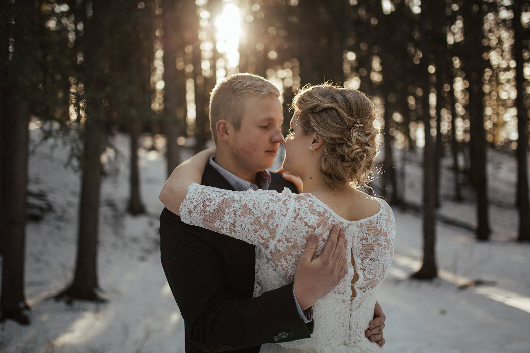 intimate wedding photo