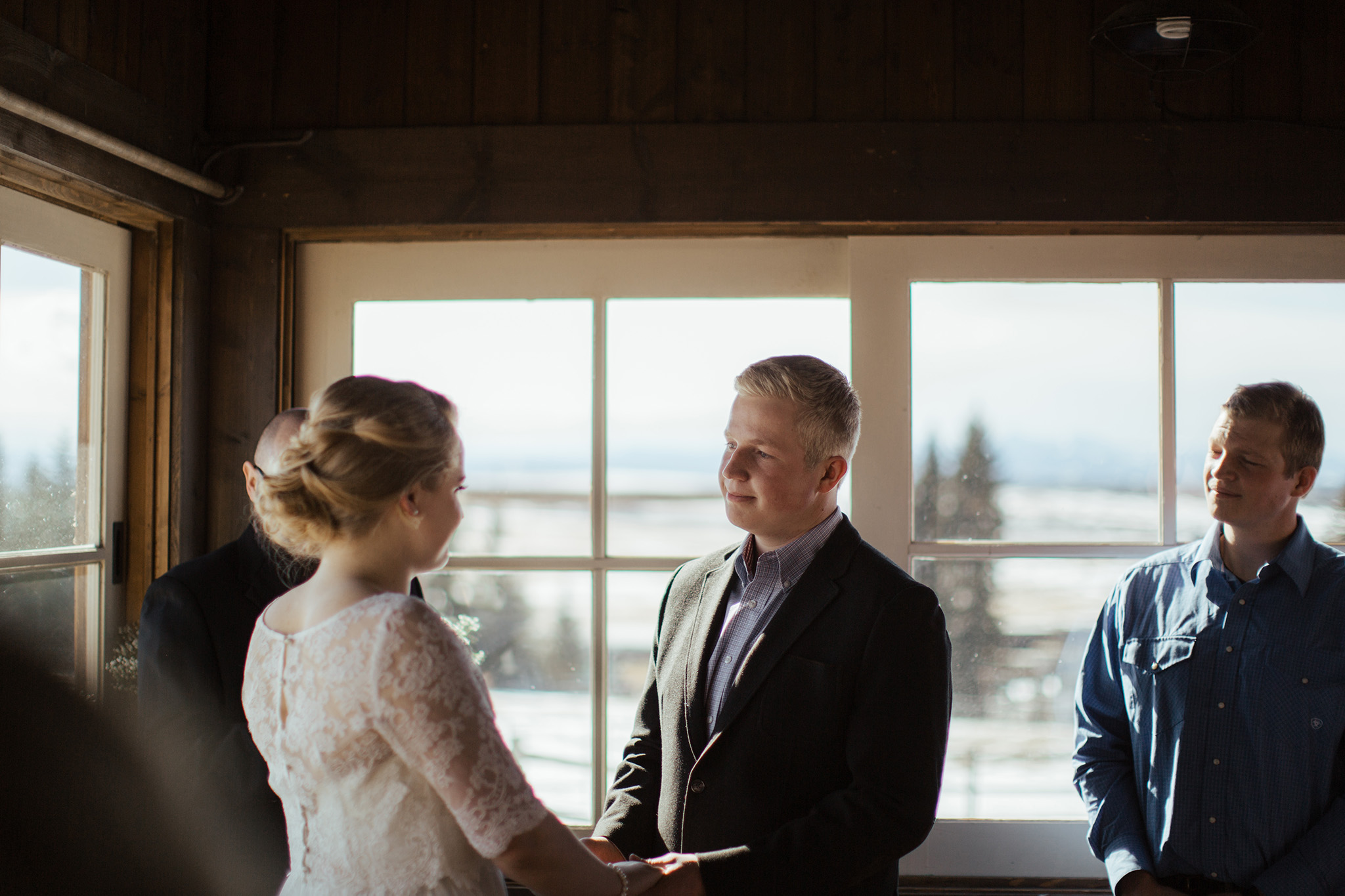 calgary cabin wedding ceremony