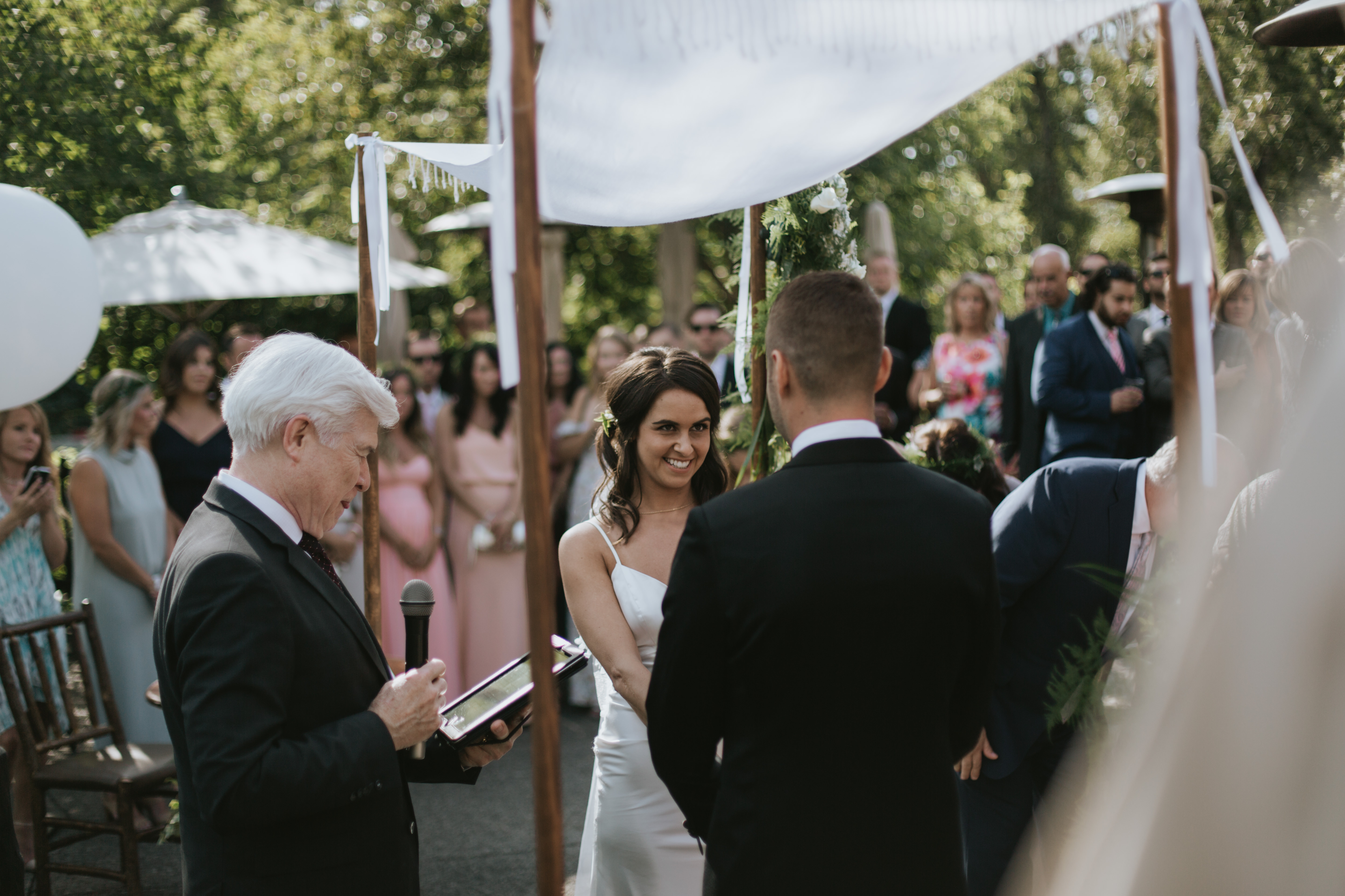the bride almost cries when she sees her groom